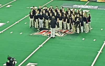 Bay City Christian School Choir Opens for the Green Bay Blizzard